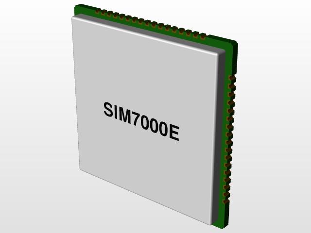 SIM7000   3D CAD Model Library   GrabCAD