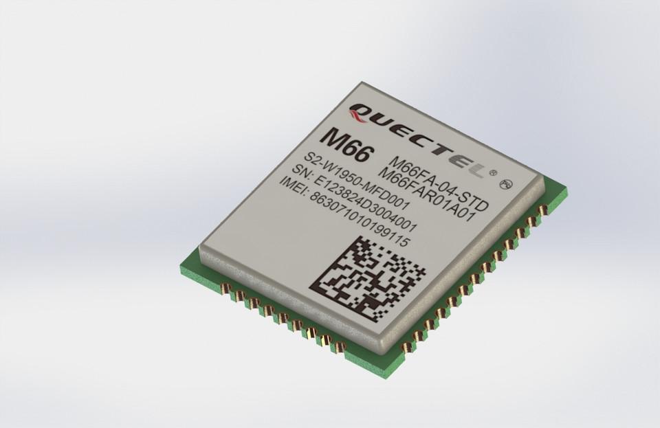 Quectel M66 GSM Chip   3D CAD Model Library   GrabCAD