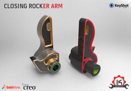 Motor Cycle Engine Internal Setup - Desmodromic Valve System-Closing Rocker Arm