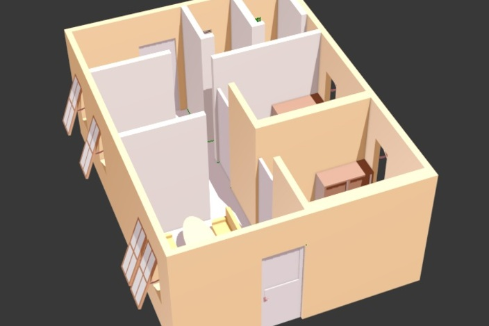Download Simple House Stl And Cad Files For 3d Printing