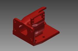 Drill gearbox motor mount for Ryobi