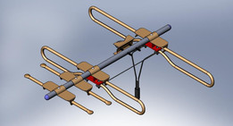 Antenna with 2 elements and 2 dipoles for vhf and uhf