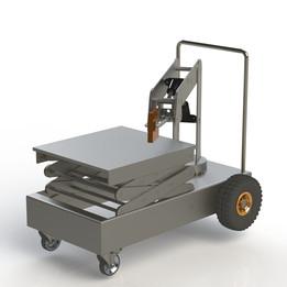 SCISSOR LIFT + HYDRAULIC ROBOTIC ARM