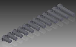 M33 DIN 933 (Fully Threaded) M6S Hexagon Head Bolts