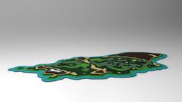 Relief map 3D model
