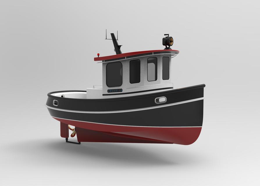 16' Mini Tug Boat SWEET16 - NavalArt | 3D CAD Model Library