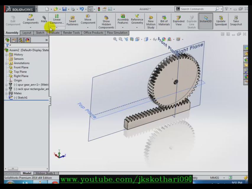 Rack and Pinion Solidworks | 3D CAD Model Library | GrabCAD