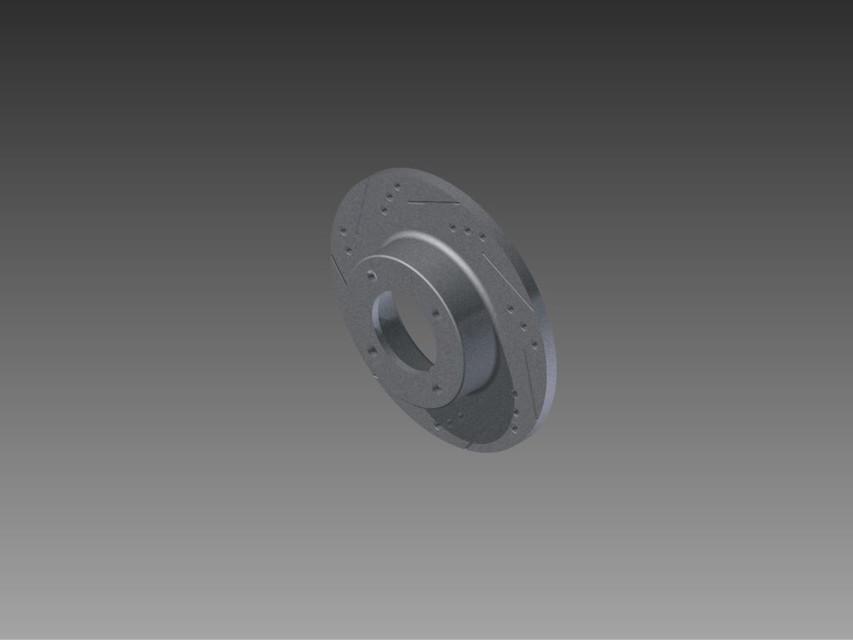 Datsun 280z Rotor | 3D CAD Model Library | GrabCAD