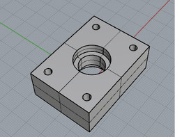support for bear roller 10mm axis