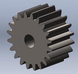 spur gear pitch diameter 2.54 cm
