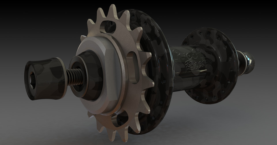 Profile Racing, Elite hubs (rebuilt) | 3D CAD Model Library