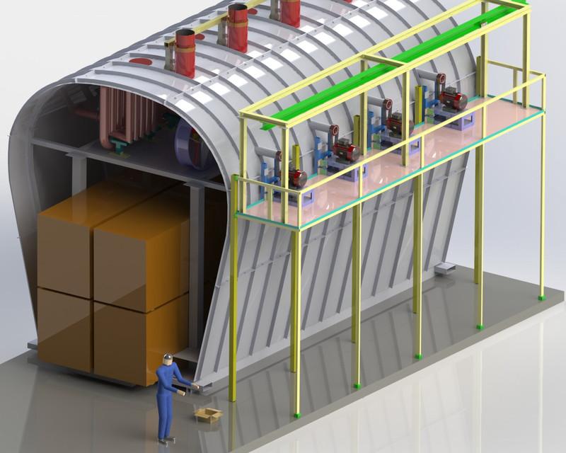 Industrial Oven | 3D CAD Model Library | GrabCAD