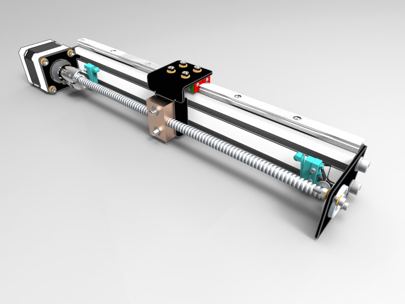 aluminium profile 20x40 linear motion model 02 3d cad model