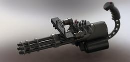 Video game mini gun
