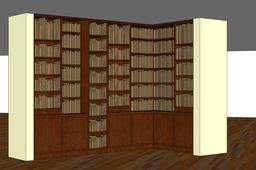 Extra capacity bookcase