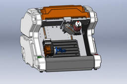 4-AXIS Desktop CNC machining(concept model)