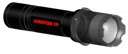 Surefire 6P flashlight with LED drop in