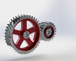 Helical gear pair