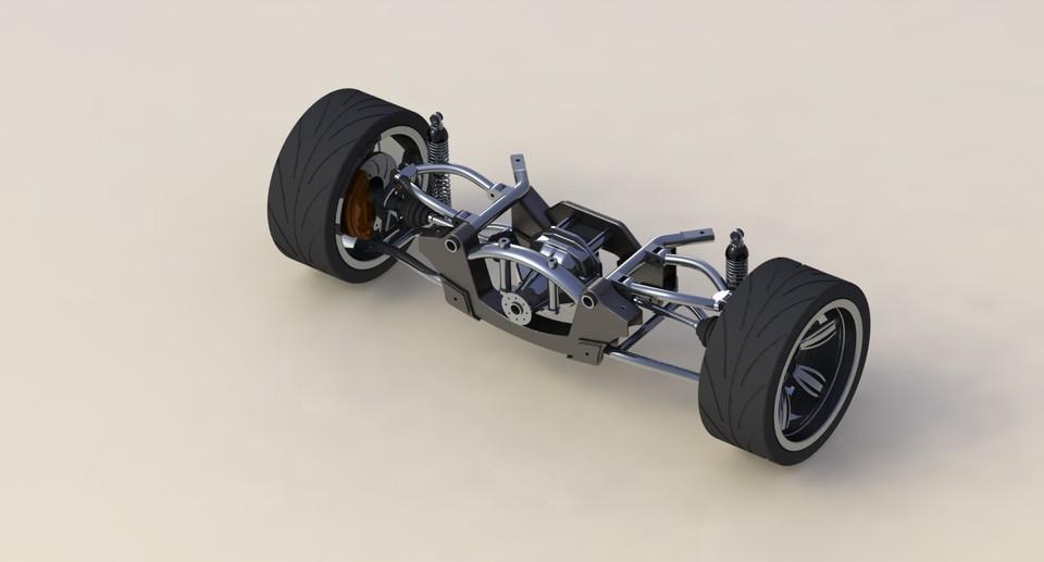 Rear suspension | 3D CAD Model Library | GrabCAD