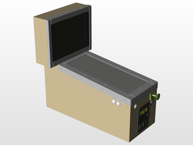 Virtual Pinball Machine | 3D CAD Model Library | GrabCAD