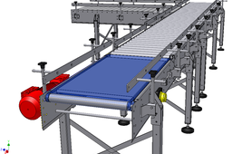 Belt to roller conveyor - rejection table