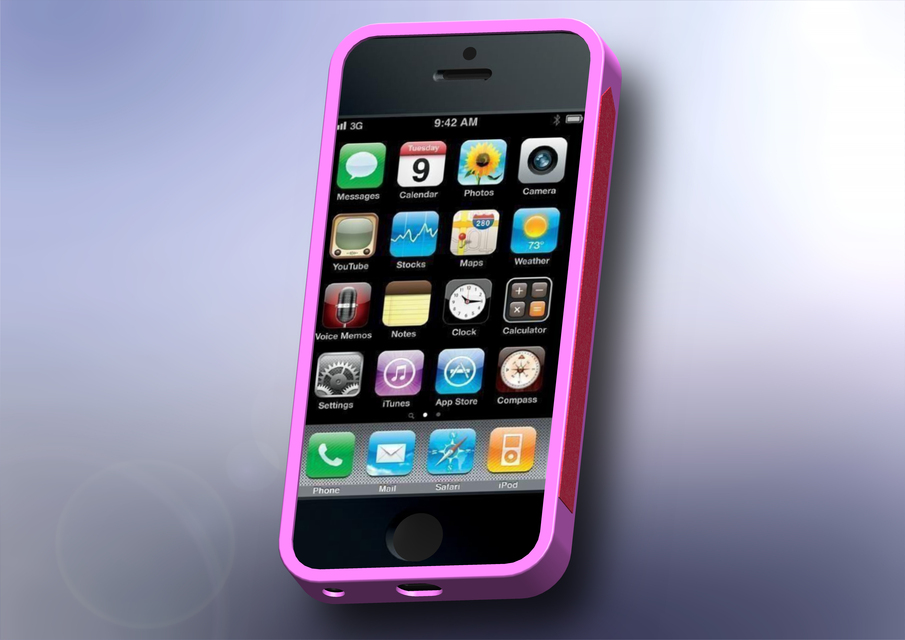 iPhone 5 Case with Mirror and nail file | 3D CAD Model Library | GrabCAD