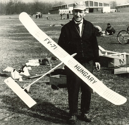 FAI F1A glider model from the seventies of the XX.th century