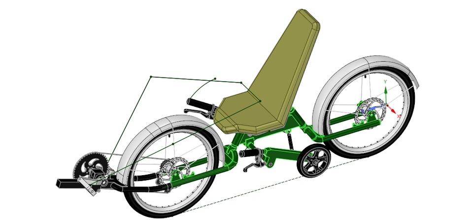 Python class_Bi-polar Bicycle Concept | 3D CAD Model Library