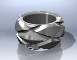 Diamond pattern Ring