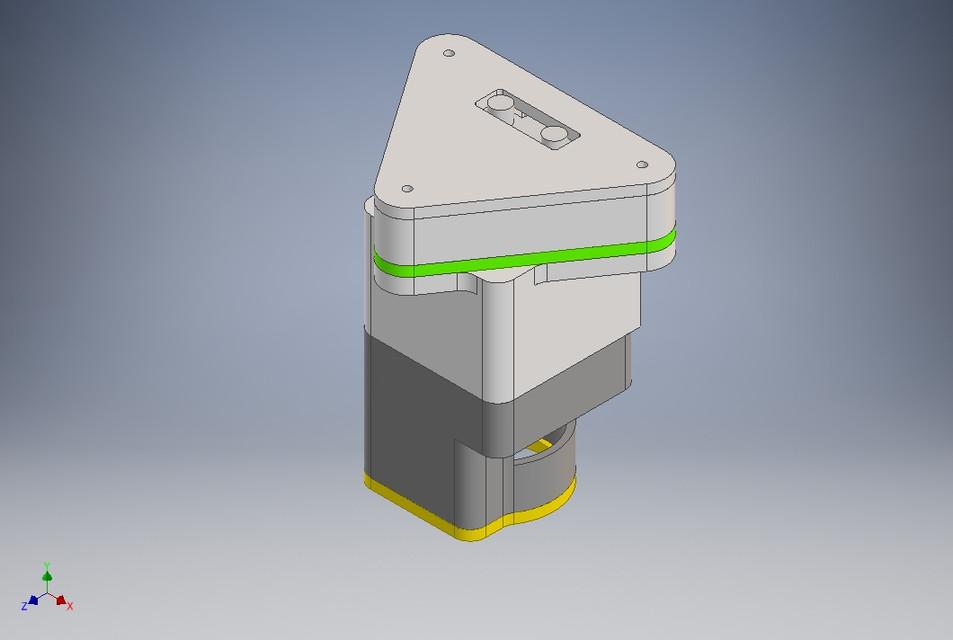 Camera Gimbal Mount for 3DR Robotics Drone | 3D CAD Model