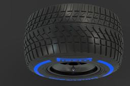 F1 2017 Pirelli Cinturato Tire Wet Track 305/680-13 (Front LH)