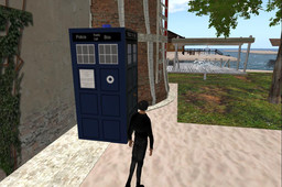 Tardis doors closed dae with textures