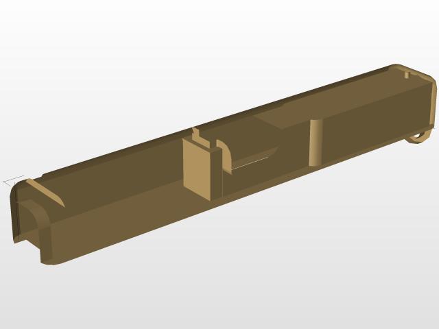 Glock 17 4 gen slide | 3D CAD Model Library | GrabCAD