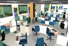 Office Type-2 (Auto cad 3D)
