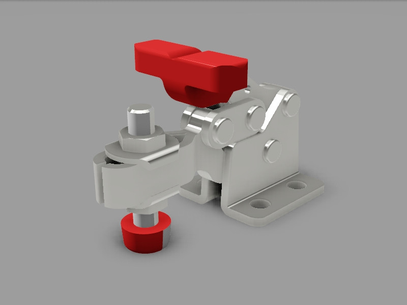 HOLD DOWN TOGGLE CLAMP | 3D CAD Model Library | GrabCAD
