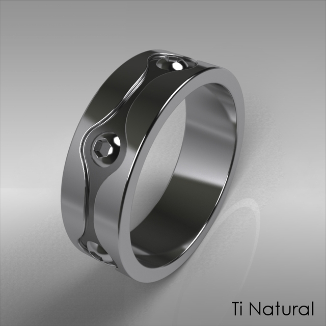 Engineers wedding ring 3D CAD Model Library GrabCAD