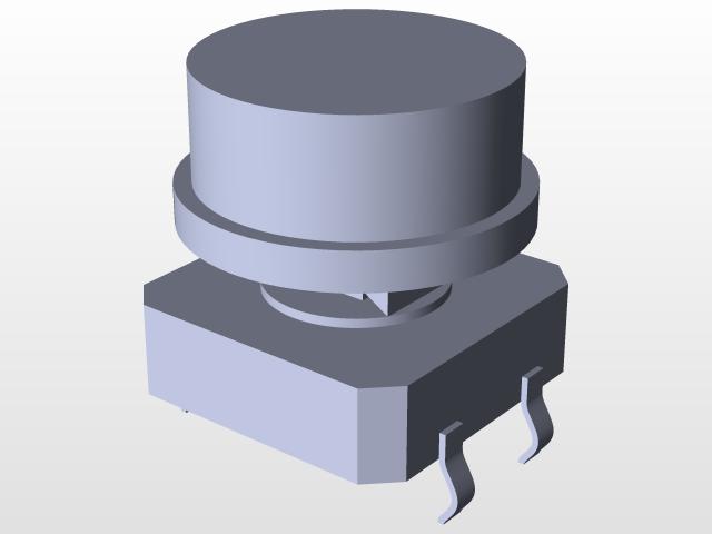 SparkFun Tactile Button SC203 | 3D CAD Model Library | GrabCAD