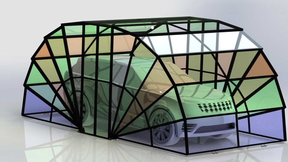 PORTABLE GARAGE REQUESTED BY MOHAMMED AMIN BOUKER | 3D CAD ...