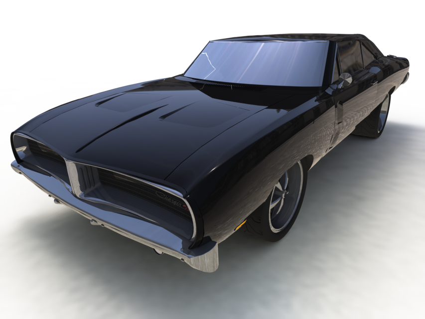 Muscle Car Charger Rt Step Iges Solidworks Cad Model