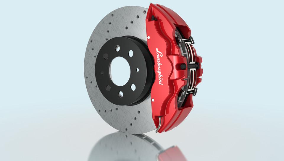 Lamborghini Disc Brake -Rotor (356-32) with 6 Piston Caliper