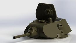 Soviet medium tank T-34 (model 1940) turret