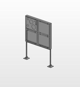 ENWAR induction hob display cabinet