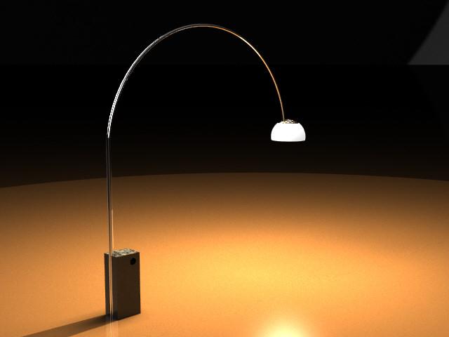 Flos lampada led ad arco nuova arredamento e casalinghi in