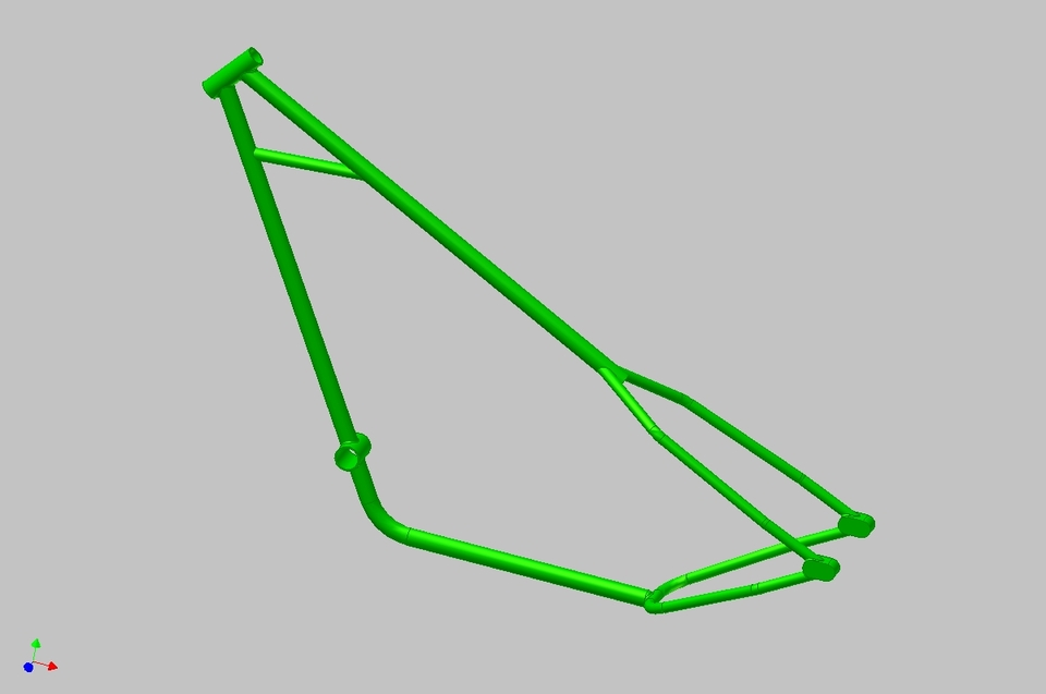 bicycle chopper frame   3D CAD Model Library   GrabCAD
