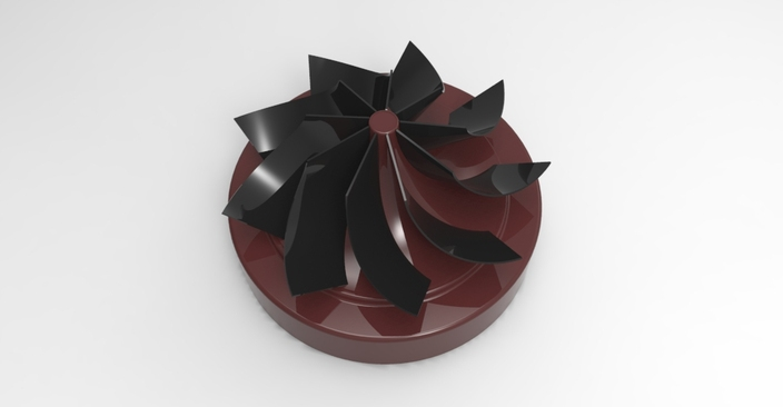 Impeller with 9 blades