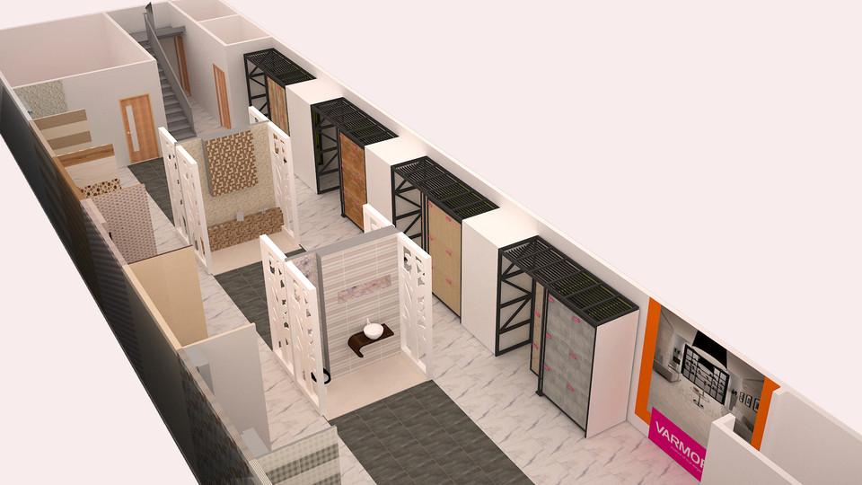 Tile Showroom 3d Cad Model Library Grabcad