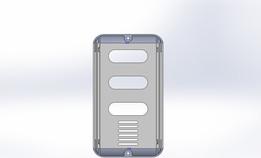 Aluminum case for outdoor door bell button