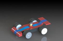Toy car with Lego Man