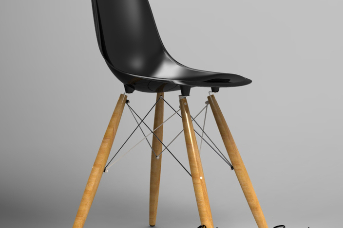 The Vitra DSW Eames Plastic Side Chair