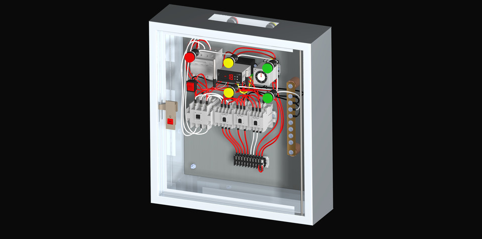Freezer Cold Room Electrical Control Panel 3d Cad Model